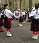 The pipers started to play and the parade into Bailey's Harbor began.