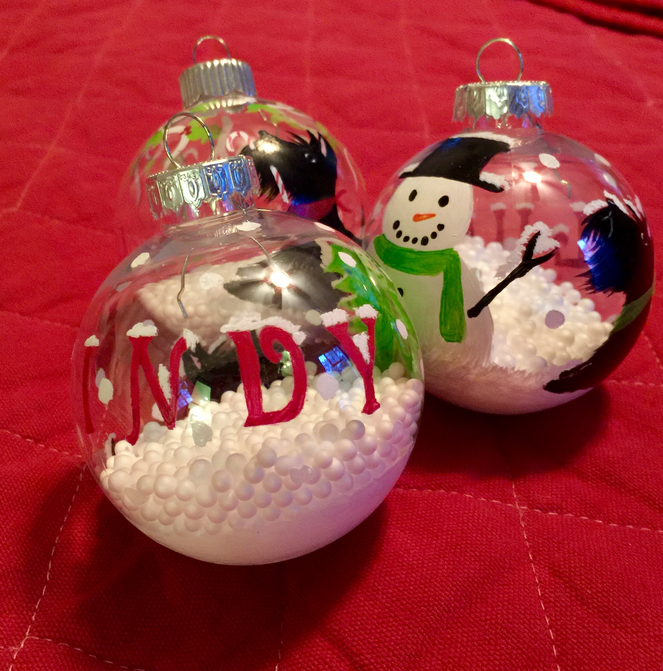 Ornaments with names on them - They Had Our Names On Them And Even A Special One For First Scottie Sophie