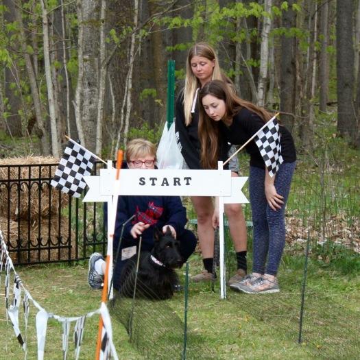 Indy at the start line, Speedy Scottie Races, DCSR