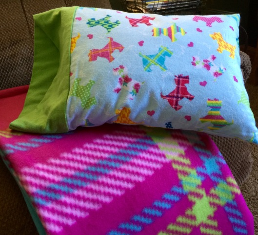 Travel blankets and pillows from DD and Diane Lewis