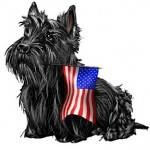Scottie and Flag
