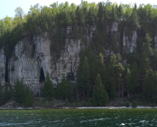 Limestone bluffs of Peninsula Park, Fish Creek, WI