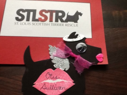 Donation Scottie tag for STLSTR Parade Float