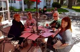 Lunch at White Gull Inn, Fish Creek