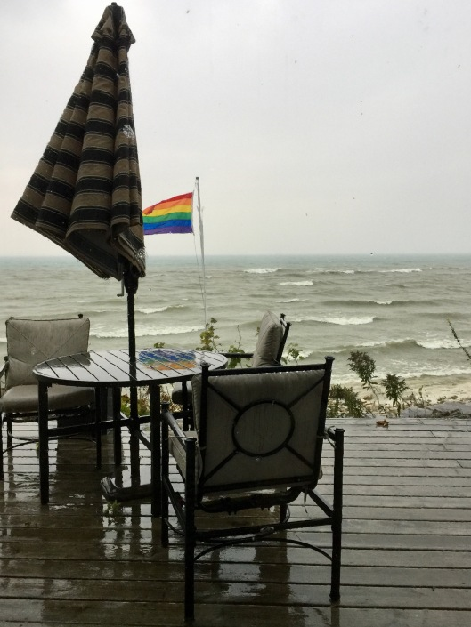 Rainy day on Lake Michigan