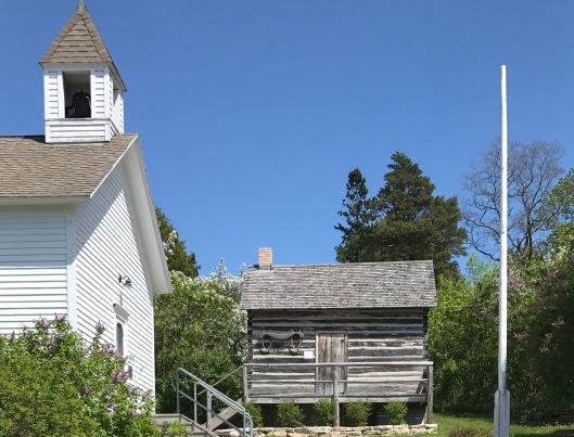 Pioneer house and schoolhouse, Ephraim, WI