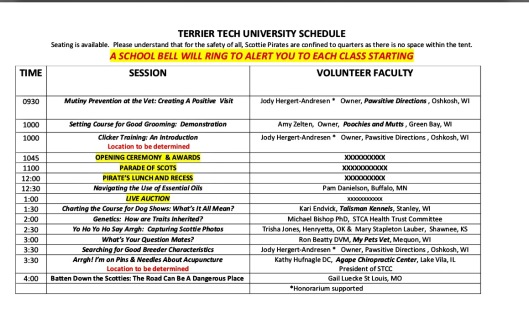 Sat. schedule of events at Rally